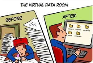 Lawyer working in virtual data room