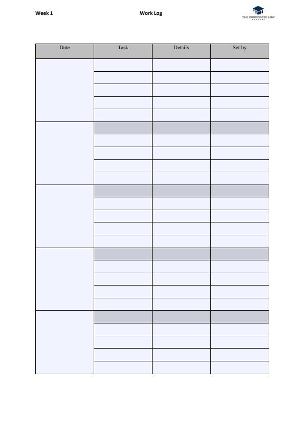 Vacation Scheme Work Log