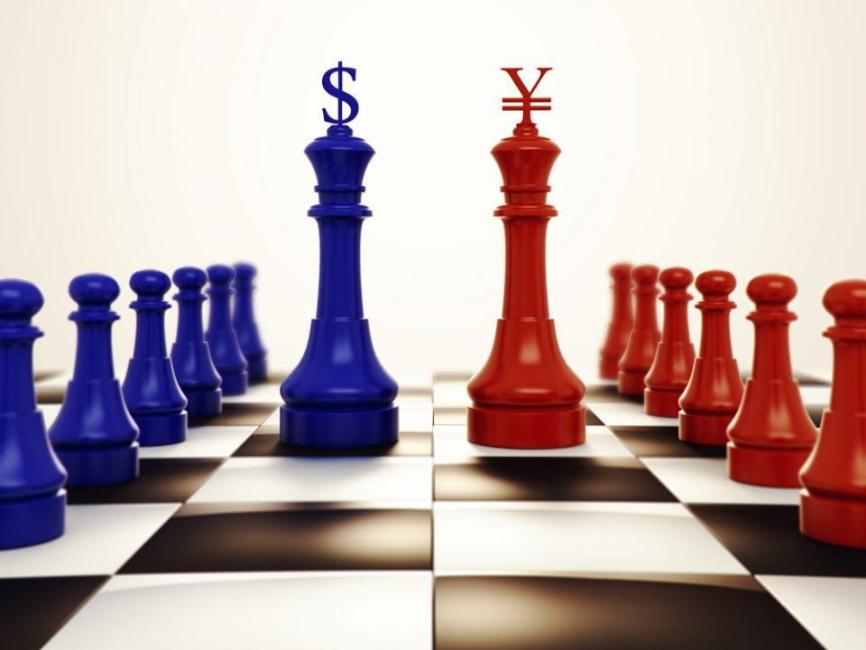 China US currency chess game